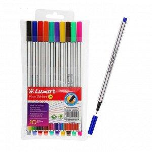 Набор ручек капиллярных, 10 цветов, Luxor Fine Writer 045, 0.8 мм, 7140/10WT/7120/10WT 2