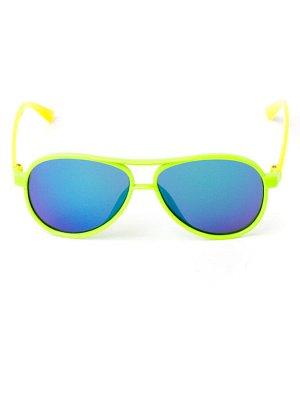 Очки детские, капельки, с жёлтыми заушниками, стекло хамелеон, зеленый