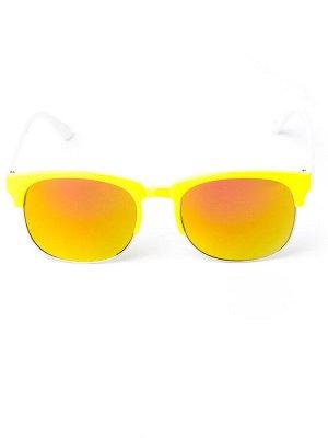 Очки детские с белыми заушниками, стекло хамелеон, желтый