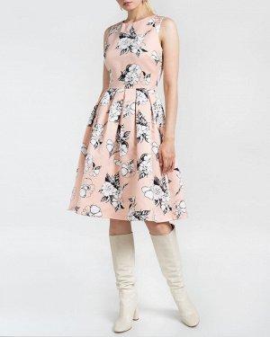 Платье жен. (001137)бежево-черный