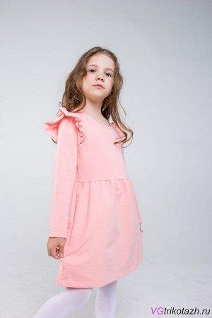 Платье Платье с длинным рукавом и крылышком. Отрезное по линии талии Футер 2-х Нитка 95%хлопок, 5% лайкра