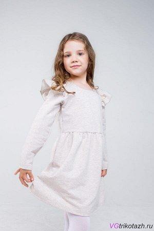 Платье Футер 2-х Нитка 95%хлопок, 5% лайкра Платье с длинным рукавом и крылышком. Отрезное по линии талии