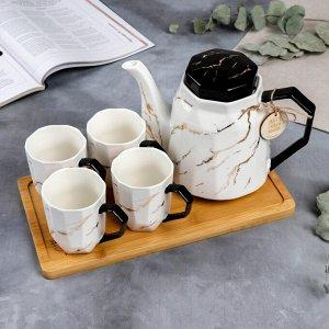 Сервиз «Любимая мама»: чайник 1.3 л, кружки 4 шт., 300 мл