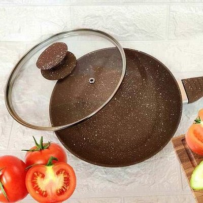 *Распродажа июля*Распродажа Вашей любимой каменной посуды! — Сковороды с крышкой — Классические сковороды