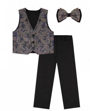 Костюм нарядный для мальчика Цвет: чёрн+ниагара