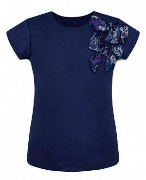 Синяя футболка для девочки Цвет: тёмно-синий
