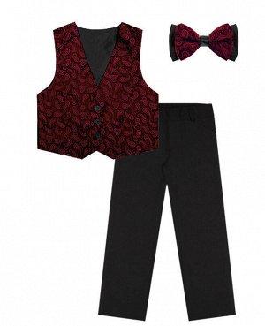 Костюм нарядный для мальчика Цвет: черн+бордо