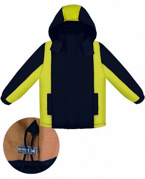 Зимняя куртка для мальчика Цвет: т.син+желт