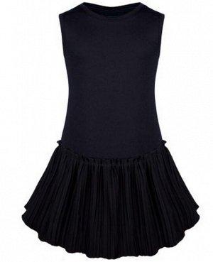 Школьный черный сарафан для девочки Цвет: черный