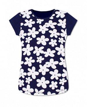 Синяя футболка для девочки Цвет: синий