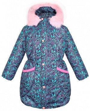 Тёплая фиолетовая куртка для девочки Цвет: фиолетовый
