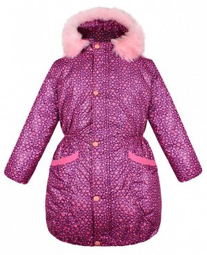 Тёплая куртка для девочки розового цвета Цвет: розовый