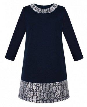 Школьное синее платье для девочки Цвет: синий