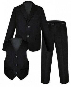 Школьный черный костюм для мальчика Цвет: черный