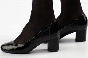 Туфли Тип: туфли женские Подошва: ПУ Верх: натуральный лак Подклад: кожподклад Высота каблука 6 см