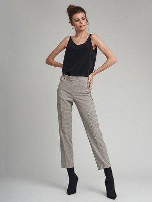 Прямые укороченные брюки высокой посадки