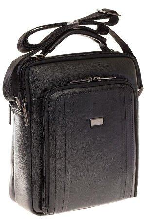 Мужская кожаная сумка черного цвета 7057MM5