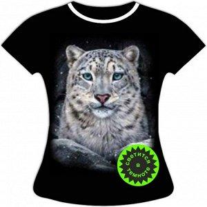 Женская футболка Снежный барс 1090