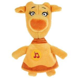 V92729-18 Игрушка мягкая Оранжевая корова зо, 18 см, муз. чип, в пак. Мульти-пульти в кор.24шт