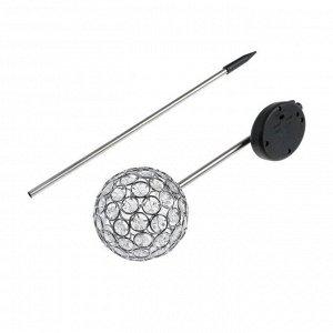 Фонарь садовый на солнечной батарее Uniel Sirius, нержавеющая сталь, свет белый, 730 мм
