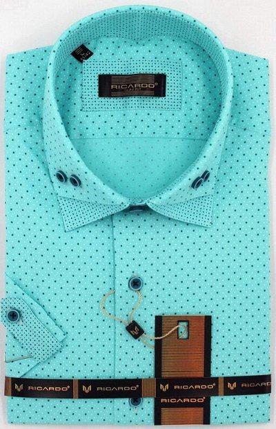 RICARDO. Рубашки. Мужчинам тоже нужна красота — Приталенная короткий рукав