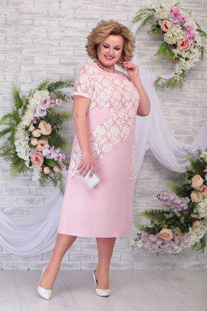 Платье Ninele 5810 пудра