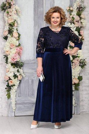 Платье Ninele 7219 темно-синий