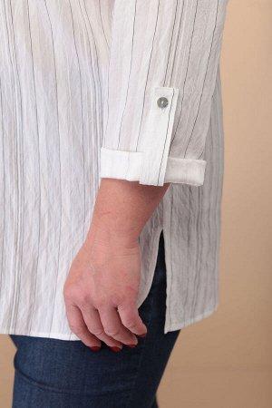 Рубашка Рубашка Linia-L Б-1817 молоко / полоска  Состав: Вискоза-82%; ПЭ-1%; ПА-17%; Сезон: Лето Рост: 164  Текстильная удлинённая туника свободного кроя, может быть как повседневная, так и нарядная.