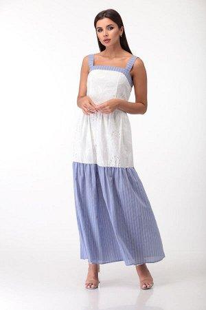 Платье Платье Anastasia Mak 709  Состав ткани: Хлопок-100%;  Рост: 164 см.  Платье выполнено из однотонной хлопчатобумажной ткани. Платье длиной макси, прилеающее по лифу и расширенное к низу, со шво