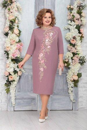 Платье Платье Ninele 5763 клевер  Сезон: Весна Рост: 164  Платье полуприлегающего фасона станет основой вашего стильного, изысканного образа. Оно слегка заужено к низу и подчеркивает стройность ног.