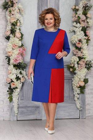 Платье Ninele 5765 василек+красный