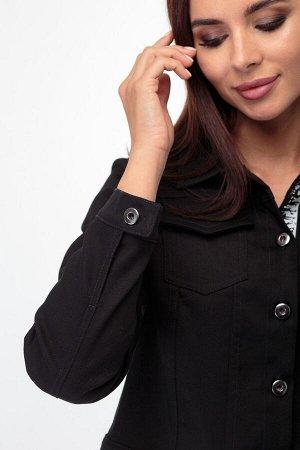Жакет Жакет ANELLI 717 черный  Состав: Хлопок-95%; Эластан-5%; Сезон: Весна-Лето  Джинсовый блузон является одним из популярных предметов женской одежды. Он сочетаем с брюками, юбкой. Его носят повер