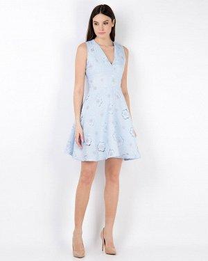 Платье жен. (006013)светло-голубой