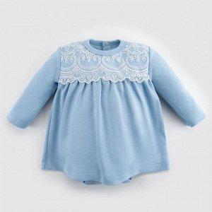 """Платье-боди Крошка Я """"Ретро"""", голубой, рост 74-80 см"""