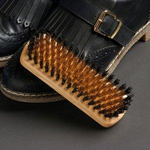 Щётка для обуви из нубука, 13,5?4,4 см, 114 пучков
