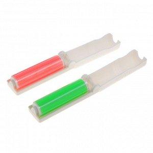 Ролик для чистки одежды силиконовый в футляре складной, 10х3х3 см, цвет МИКС