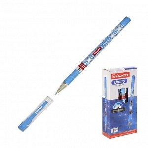 Ручка шариковая Luxor Uniflo синяя, 0,7мм, грип 19302/12Bx