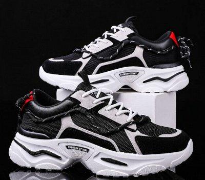Большая обувная! Скидки на всю обувь! Тысяча моделей! — Кроссовки мужские.1.0. — На шнуровке