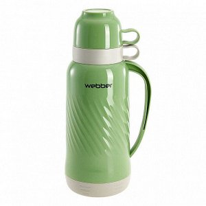 Термос 1,8 л Webber 24007/3S зеленый с серым