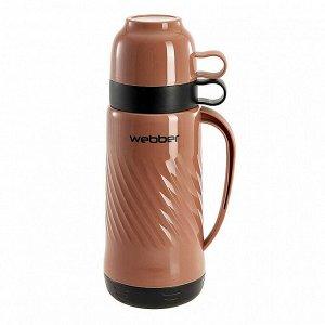 Термос 1 л Webber 24007/11S коричневый с черным