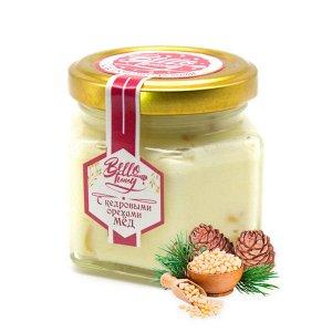 Крем-мед 120 мл с кедровыми орешками Мёдовик