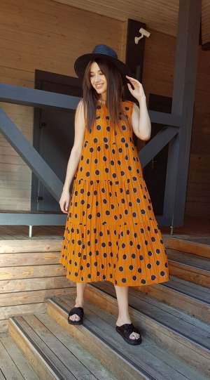 Платье Lokka 614 морковный карри