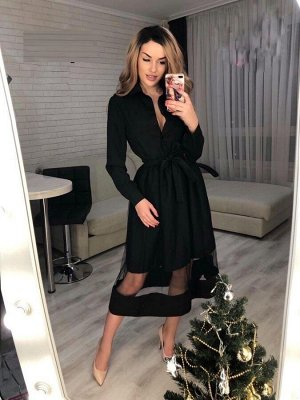 Платье Материал: барби с сеткой