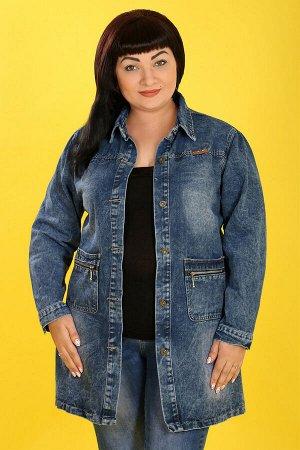 Куртка джинсовая темно-синяясиний