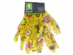 Перчатки садовые цветные 188-037