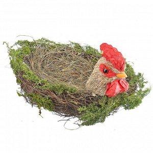 Декоративная корзинка Пасхальный петушок (24х30х16 см)