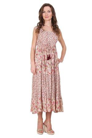 Платье Horta Цвет: Бежевый, Мультиколор. Производитель: Ганг