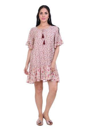 Платье Taltal Цвет: Бежевый, Мультиколор. Производитель: Ганг