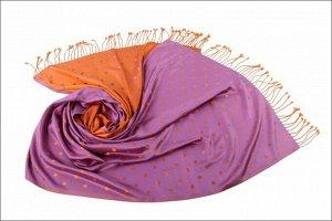 Накидка-палантин Avalina Цвет Жёлто-Сиреневый (65х180 см)