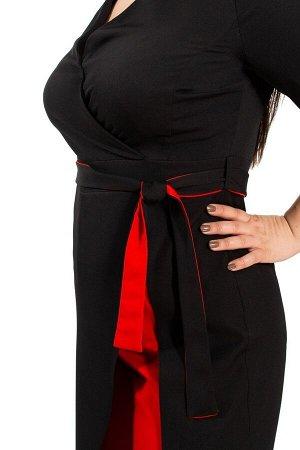 Комбинезон черный с красной отделкой